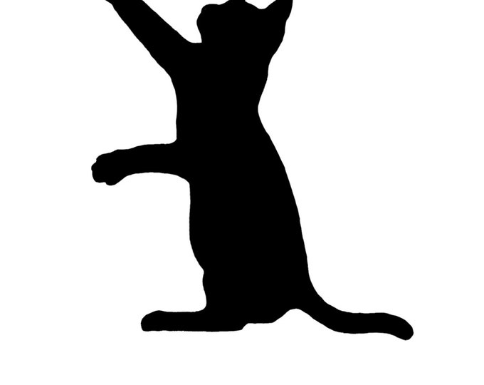 Cat Playing Stencil Made from 4 Ply Mat Board-Choose a Size-From 5x7 to 24x36
