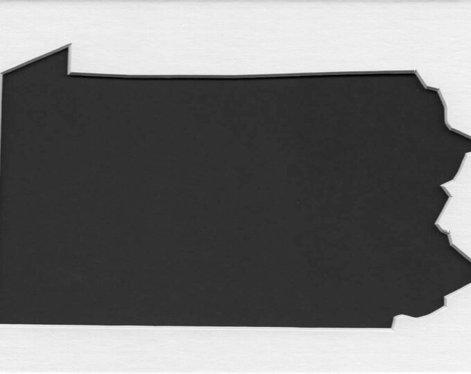 Pack of 3 Square Pennsylvania State Stencils Made From 4 Ply Mat Board 12x12, 8x8 and 6x6 -Package includes One of Each Size