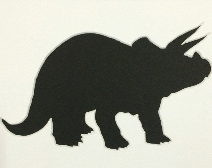 Triceratops Stencil Made from 4 Ply Mat Board-Choose a Size-From 5x7 to 24x36