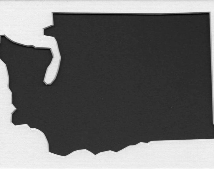 Pack of 3 Washington State Stencils, Made from 4 Ply Mat Board 18x24, 16x20 and 11x14 -Package includes One of Each Size