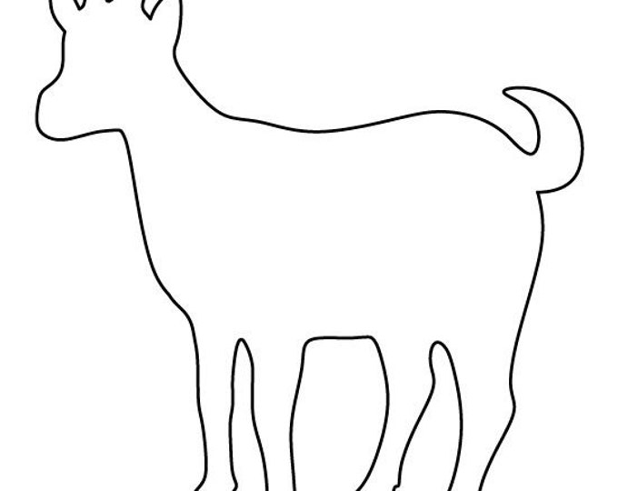 Goat Stencil Made from 4 Ply Mat Board-Choose a Size-From 5x7 to 24x36