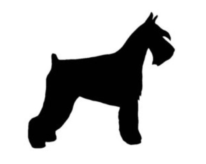 Schnauzer Stencil Made from 4 Ply Mat Board-Choose a Size-From 5x7 to 24x36