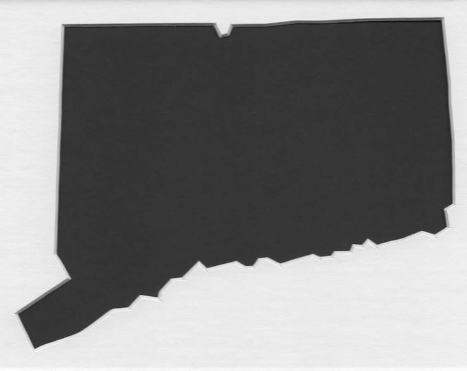 Connecticut State Stencil Made from 4 Ply Mat Board-Choose a Size-From 5x7 to 24x36