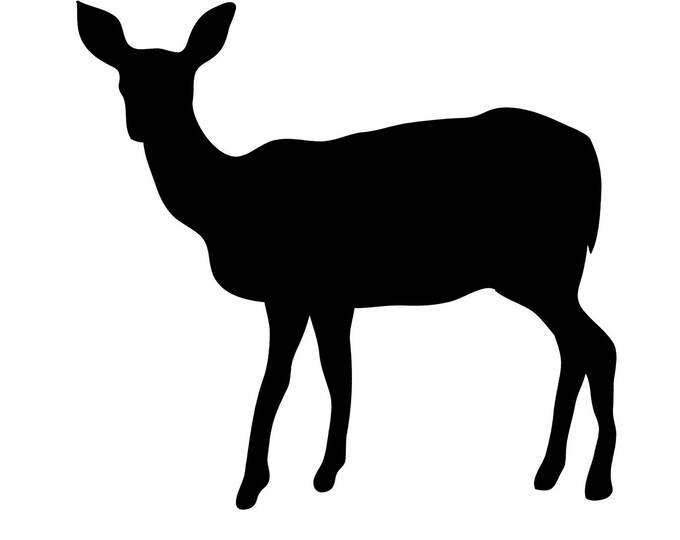 Doe Stencil Made from 4 Ply Mat Board-Choose a Size-From 5x7 to 24x36