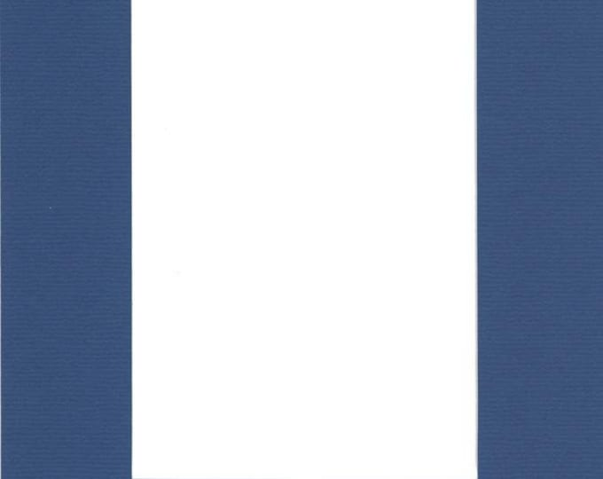 Pack of (2) 20x24 Acid Free White Core Picture Mats cut for 16x20 Pictures in Royal Blue