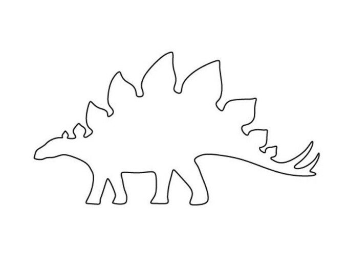 Pack of 3 Stegasaurus Stencils Made from 4 Ply Mat Board 16x20, 11x14, 8x10 -Package includes One of Each Size