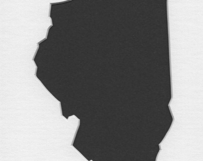Pack of 3 Illinois State Stencils,Made from 4 Ply Mat Board 16x20, 11x14 and 8x10 -Package includes One of Each Size