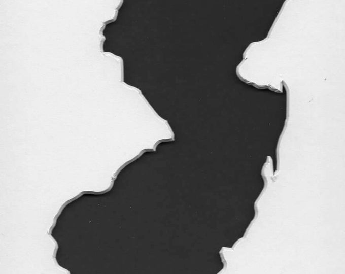 New Jersey State Stencil Made from 4 Ply Mat Board-Choose a Size-From 5x7 to 24x36