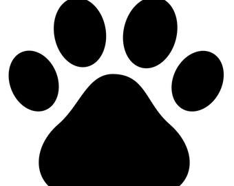 Dog Print Stencil Made from 4 Ply Mat Board-Choose a Size-From 5x7 to 24x36