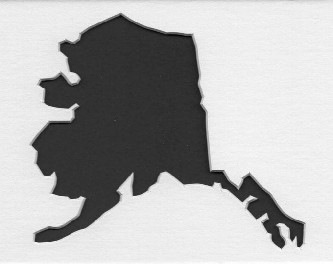 Pack of 3 Alaska State Stencils, Made from 4 Ply Mat Board 18x24, 16x20 and 11x14