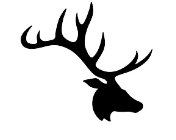 Deer Large Antlers Stencil Made from 4 Ply Mat Board-Choose a Size-From 5x7 to 24x36