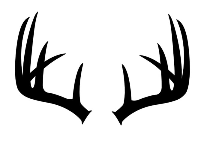 Pack of 3 Antlers Stencils Made from 4 Ply Mat Board, 11x14, 8x10 and 5x7 -Package includes One of Each Size