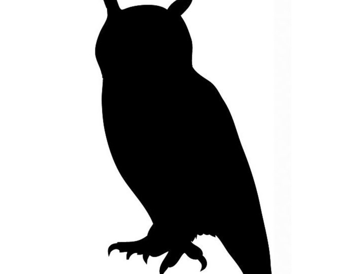 Owl Stencil Made from 4 Ply Mat Board-Choose a Size-From 5x7 to 24x36