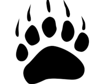 Bear Claw Stencil Made from 4 Ply Mat Board-Sizes Available from 5x7-24x36
