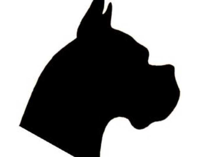 Pack of 3 Boxer Dog Stencils Made from 4 Ply Mat Board 16x20, 11x14, 8x10 -Package includes One of Each Size