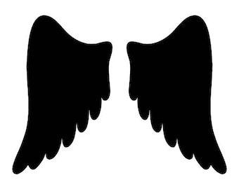 Pack of 3 Angel Wings 2 Stencils Made from 4 Ply Mat Board, 11x14, 8x10 and 5x7 -Package includes One of Each Size