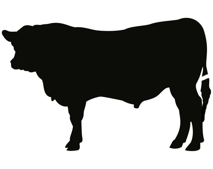 Pack of 3 Bull Stencils Made from 4 Ply Mat Board, 11x14, 8x10 and 5x7 -Package includes One of Each Size
