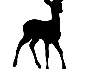 Pack of 3 Doe Baby Deer Stencils Made from 4 Ply Mat Board, 11x14, 8x10 and 5x7 -Package includes One of Each Size