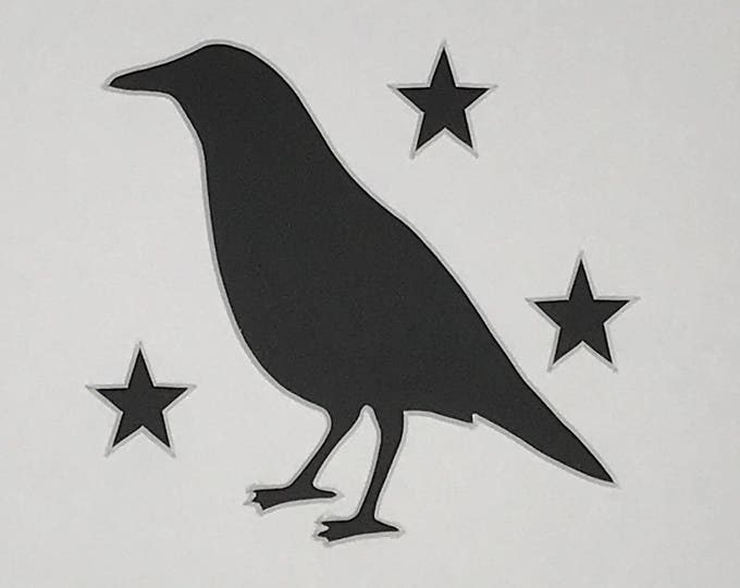 Primitive Crow with Stars Stencil Made from 4 Ply Mat Board-Choose a Size-From 5x7 to 24x36