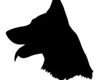 German Shepherd Stencil Made from 4 Ply Mat Board-Choose a Size-From 5x7 to 24x36