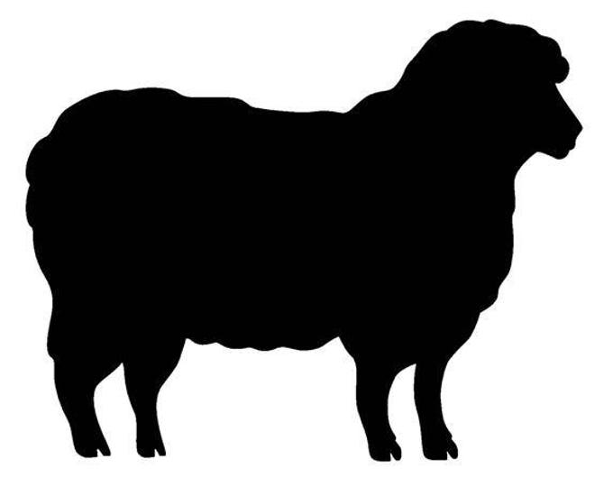 Pack of 3 Sheep Stencils Made from 4 Ply Mat Board, 11x14, 8x10 and 5x7 -Package includes One of Each Size