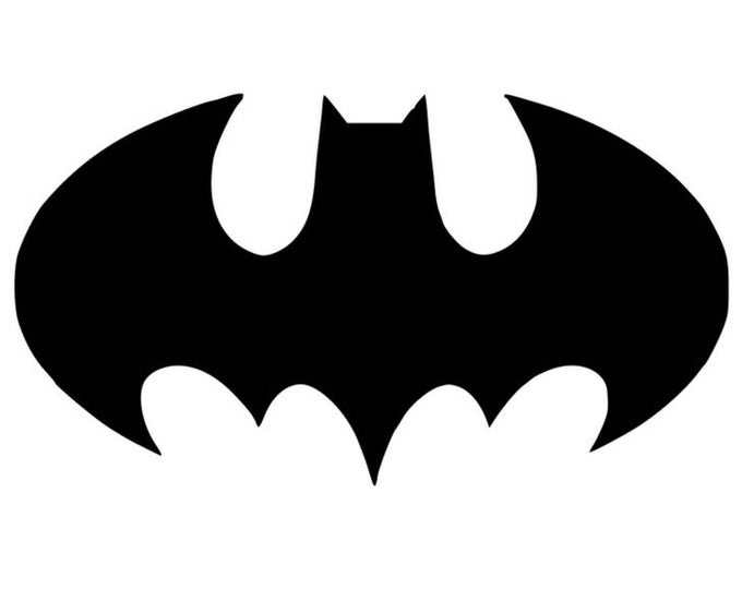 Pack of 3 Bat Symbol Stencils Made from 4 Ply Mat Board 16x20, 11x14, 8x10 -Package includes One of Each Size
