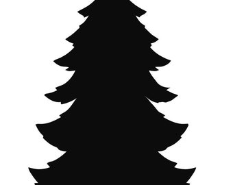 Pack of 3 Christmas Tree Stencils, 11x14, 8x10 and 5x7 Made From 4 Ply Matboard