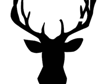 Pack of 3 Deer Head Style 3 Stencils, 16x20, 11x14 and 8x10 Made From 4 Ply Matboard -Package includes One of Each Size