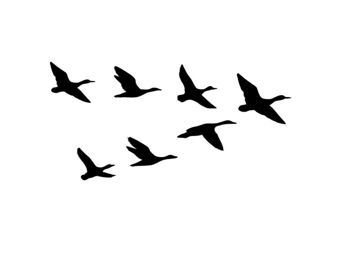 Pack of 3 Ducks in Flight Stencils Made from 4 Ply Mat Board 16x20, 11x14, 8x10 -Package includes One of Each Size