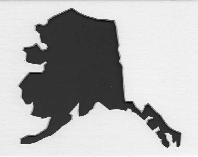 Pack of 3 Alaska State Stencils Made From 4 Ply Mat Board 11x14, 8x10 and 5x7 -Package includes One of Each Size