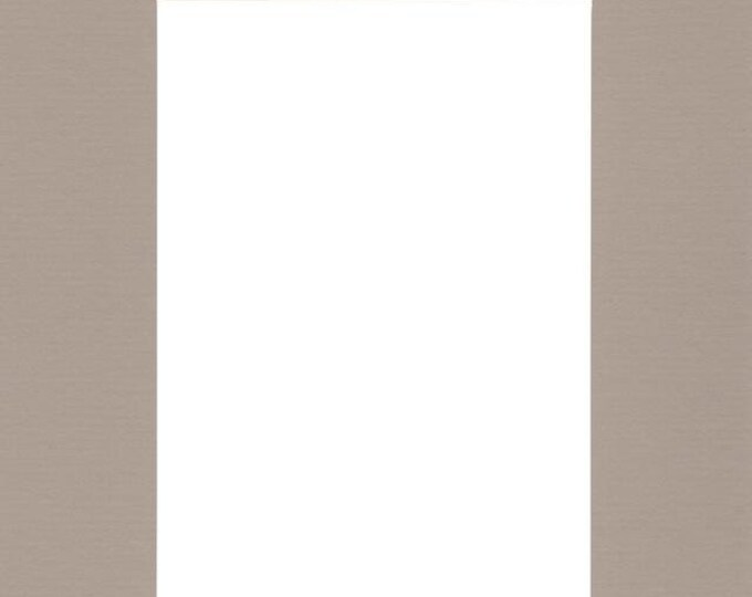 Pack of (2) 20x24 Acid Free White Core Picture Mats cut for 16x20 Pictures in Tan