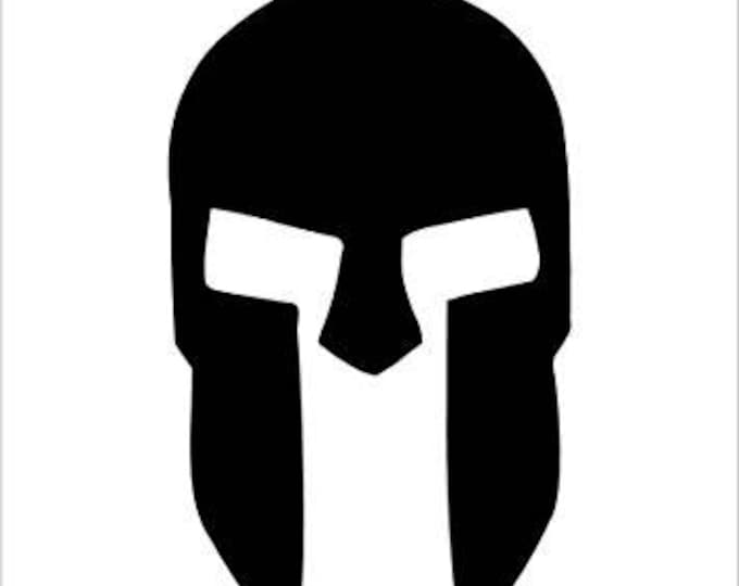 Pack of 3 Spartan Helmet Style 2 Stencils,Made from 4 Ply Mat Board 16x20, 11x14 and 8x10 -Package includes One of Each Size