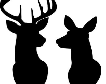 photograph relating to Deer Stencil Printable named Deer stencil Etsy