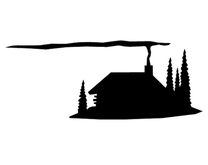 Pack of 3 Rustic Cabin Stencils Made from 4 Ply Mat Board, 5x7, 4x6 and 3x5 -Package includes One of Each Size