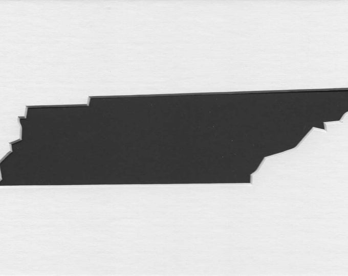 Tennessee State Stencil Made from 4 Ply Mat Board-Choose a Size-From 5x7 to 24x36