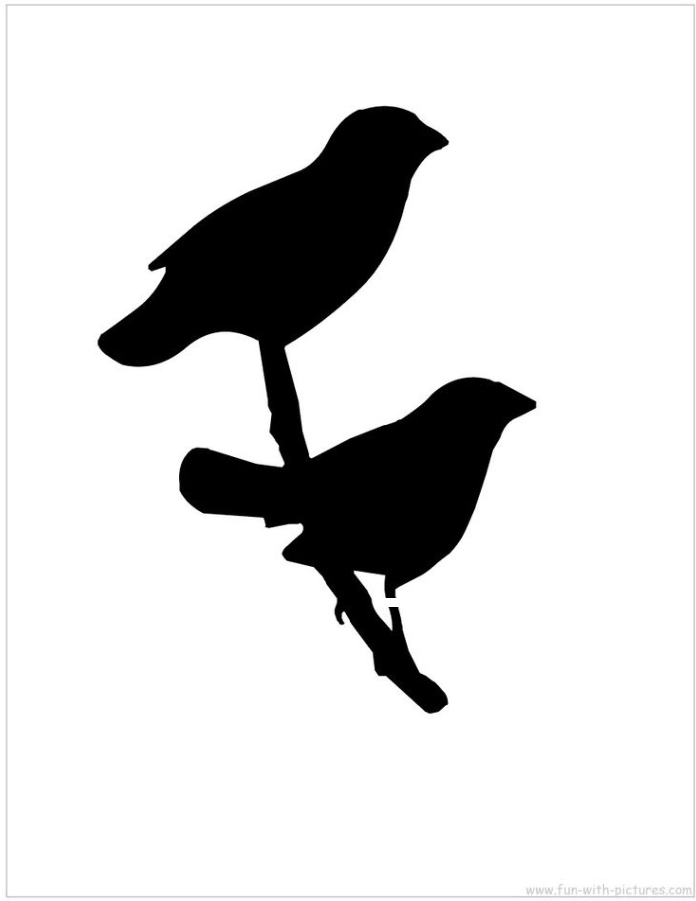 Two Bird On Branch Stencil Made From 4 Ply Mat Board