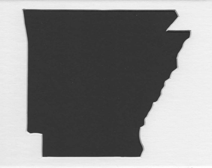 Arkansas State Stencil Made from 4 Ply Mat Board-Choose a Size-From 5x7 to 24x36
