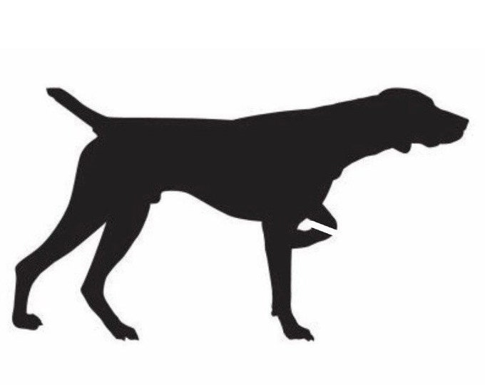 Pack of 3 Weimaraner Style 2 Stencils Made from 4 Ply Mat Board, 11x14, 8x10 and 5x7 -Package includes One of Each Size