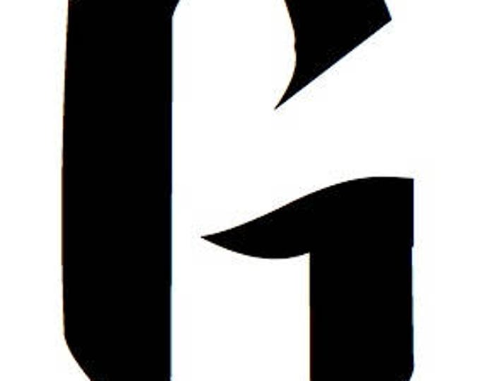 Letter G Stencil Made from 4 Ply Mat Board-Wizard Font