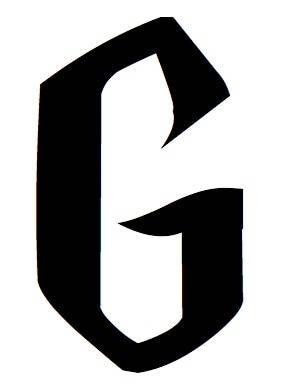 Letter G Stencil Made From 4 Ply Mat Board Wizard Font