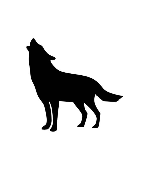 Howling Wolf Stencil Made From 4 Ply Mat Board Choose A Etsy