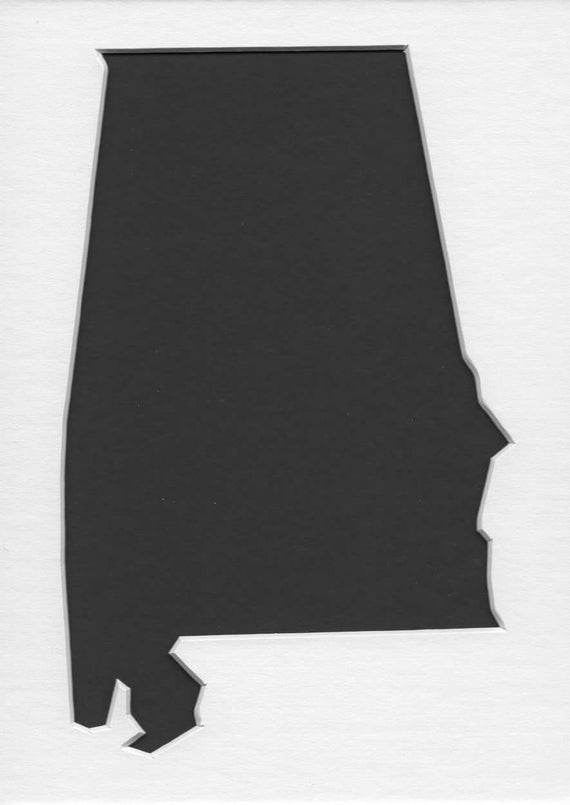 Alabama State Stencil Made From 4 Ply Mat Board Choose A