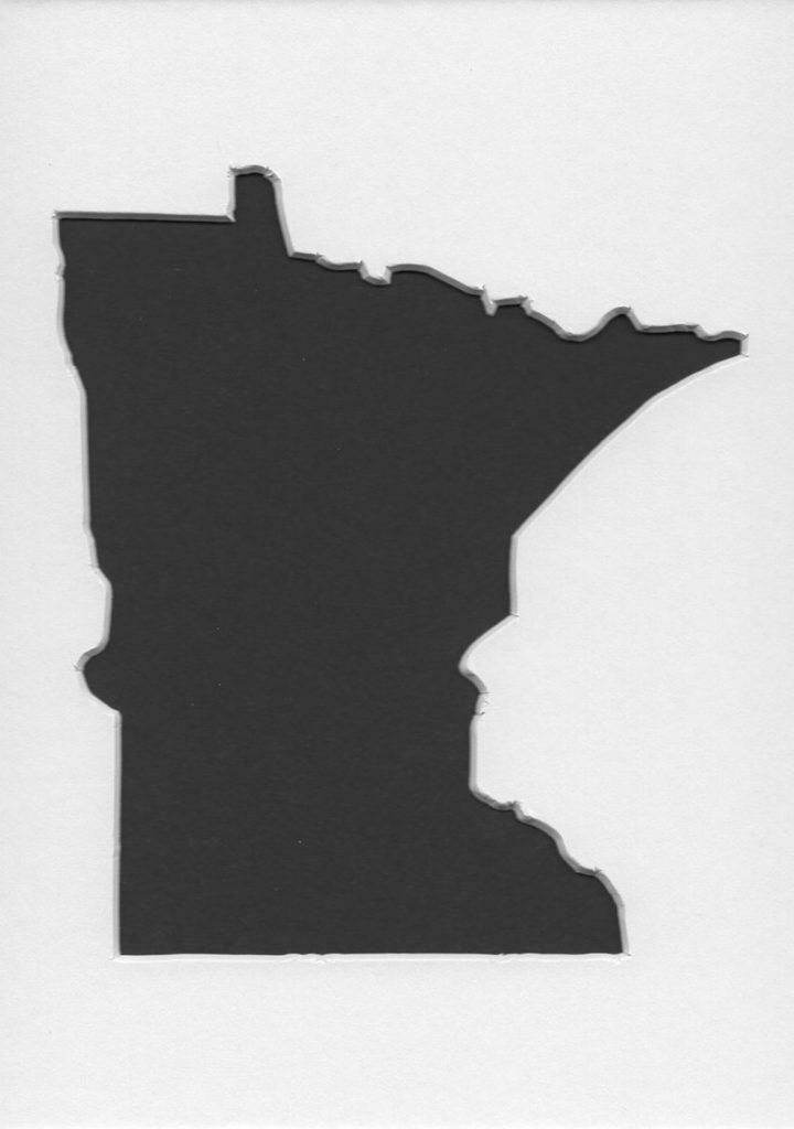 Pack Of 3 Minnesota State Stencils Made From 4 Ply Mat