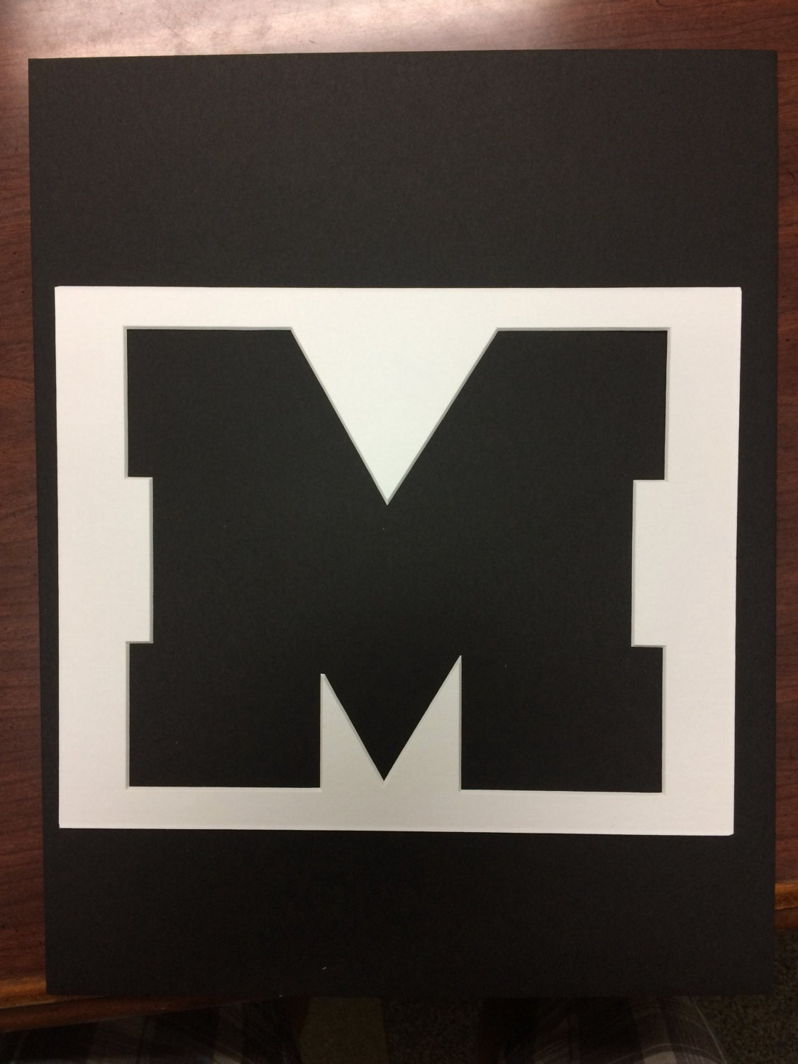 8x10 Ole Miss Logo Stencils Made From 4 Ply Mat Board