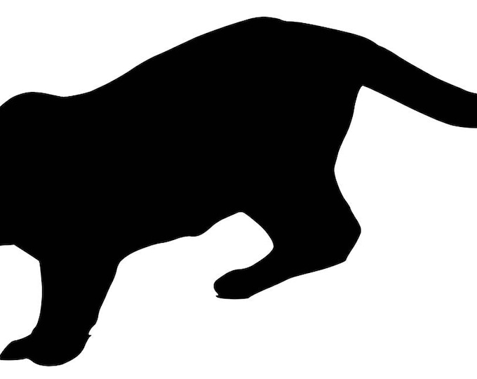 Pack of 3 Mountain Lion Stencils Made from 4 Ply Mat Board, 11x14, 8x10 and 5x7 -Package includes One of Each Size