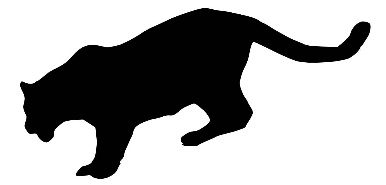 pack of 3 mountain lion stencils made from 4 ply mat board etsy rh etsy com Mountain Lion Outline Mountain Lion Face Clip Art