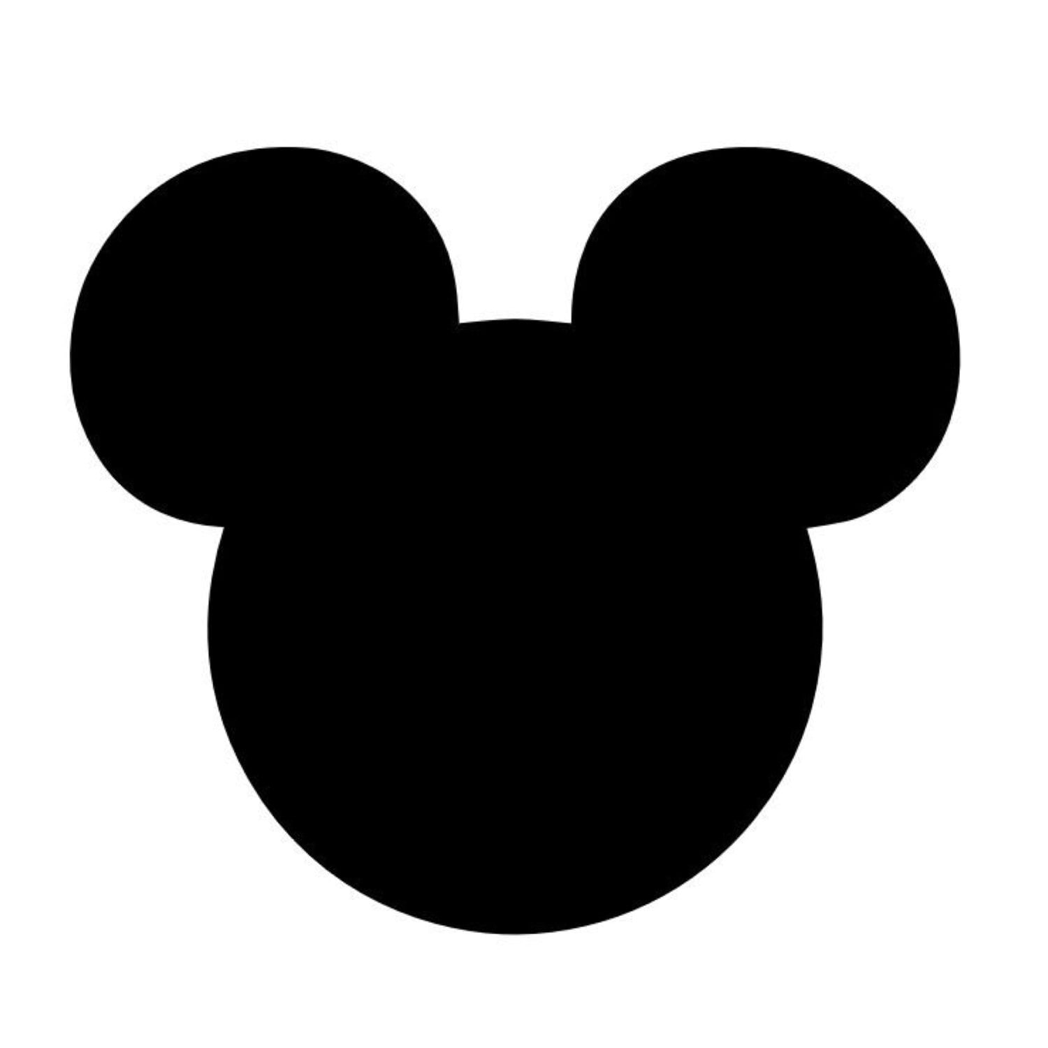 Mickey Mouse Head Mouse Ears Stencil Made From 4 Ply Mat Board