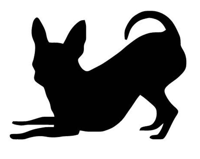 Pack of 3 Chihuahua Style 3 Stencils Made from 4 Ply Mat Board, 11x14, 8x10 and 5x7 -Package includes One of Each Size