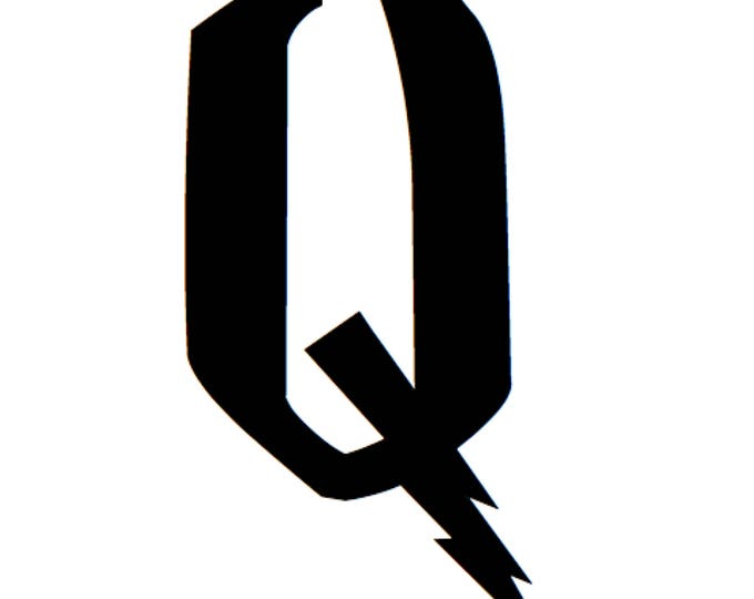 Letter Q Stencil Made from 4 Ply Mat Board-Wizard Font