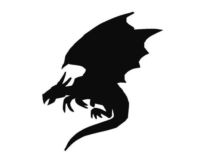 Pack of 3 Dragon Stencils, 16x20, 11x14 and 8x10 Made From 4 Ply Matboard -Package includes One of Each Size